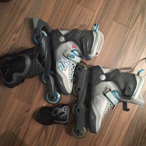 Women's size 9 K2 rollerblade, knee pads, wrist gaurds $100obo