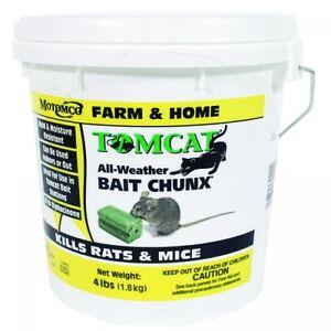 Tomcat Bait Chunx 4 LBS Rats Mice Mouse Killer Poison Food Pest Rodent Control