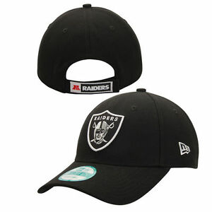 Oakland Raiders NFL Football New Era 9forty Cap Kappe Klett Velcro verstellbar
