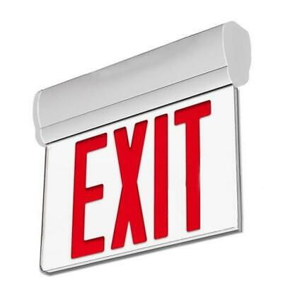 Red Led Emergency Exit Sign Light - 3w - Ul-94v-0 Listed With Battery Back-up