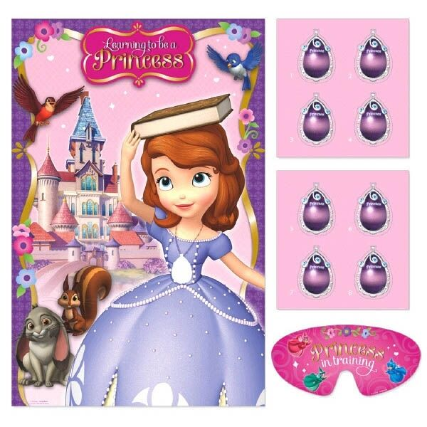 DISNEY SOFIA THE FIRST PARTY SUPPLIES PARTY GAME FOR 2 TO 8 PLAYERS FREE POSTAGE