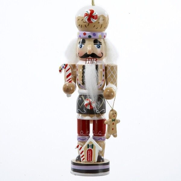 Gingerbread Man Nutcracker ORNAMENT 5 inch Wooden Christmas Decoration