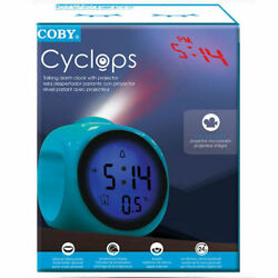 Coby Talking Alarm Clock With Led Projector in Blue - CBC-54-BLU