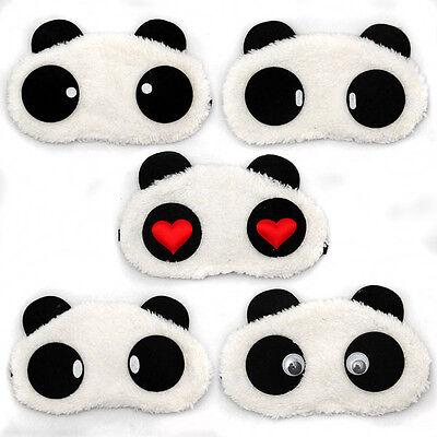 1 Stück Panda Augen Masken Augenbinde Schlafbrille Reise Schlafen Schlafmaske
