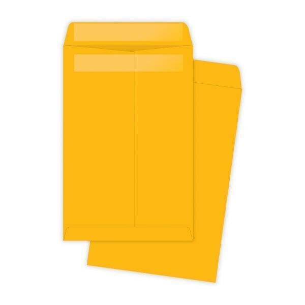 """Redi-Seal Envelope, Plain, 28Lb, 6""""x9"""", 100/BX, Kraft"""