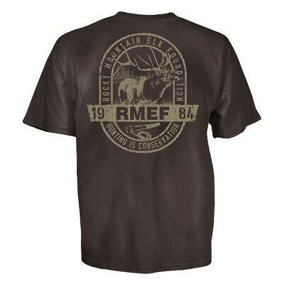 Rocky Mountain Elk (Rocky Mountain Elk Foundation Bugle Call T-Shirt (L)- Dark Chocolate)