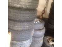 Job lot of Mercedes sprinter/Volkswagen crafter wheels and tyres mostly good tread