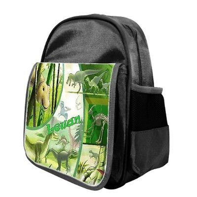 Personalised Child's Dinosaur Ruck Sack Back Pack Nursery Play School Bag GIFT  - Personalized Kids Back Packs