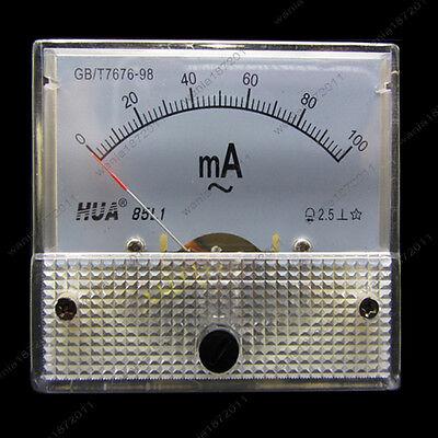 Ac 100ma Analog Ammeter Panel Pointer Amp Current Meter Gauge 85l1 0-100ma Ac