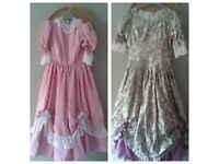 x2 Vintage Bridesmaid Dresses Size 7-12 & 9-15 yrs old - In Excellent Clean Condition
