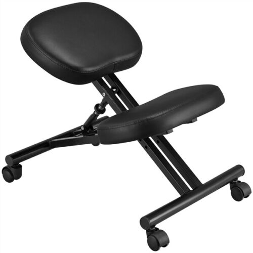 Adjustable Ergonomic Kneeling Chair Posture Chair Stool for Home Office Black 9