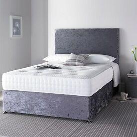 Sale!! Divan velvet crushed beds