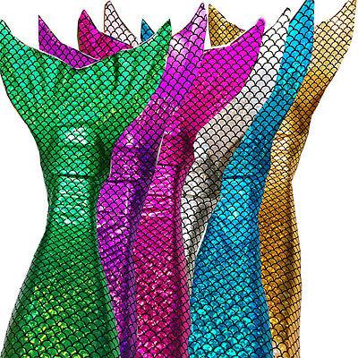 Sparkle scale Swimmable Mermaid Tails Bikini top monofin kids girls cos - Kids Cos