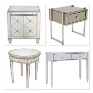 BRAND NEW Stunning Mirrored Tables 8 Styles FREE DELIVERY