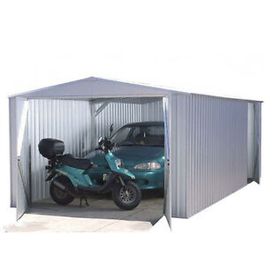 Metal Garage 20x10 Absco Metal Apex Garage Ultra Tough Bluescope Steel Sheds New
