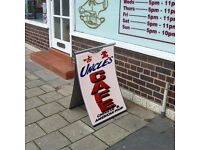 BLACK FLEXIBLE PAVEMENT SIGN A-BOARD - NEW - NOT BRANDED