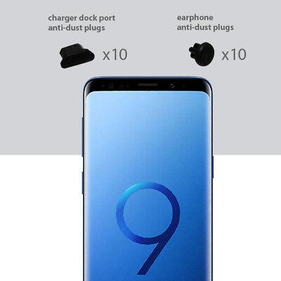 10 x Black Anti Dust Plug charger dock port for lightning For Samsung S9