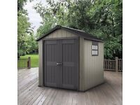 KETER Garden Shed OAKLAND 757 (2.29m x 2.24m) Cheapest in UK ! BRAND NEW SEALED !