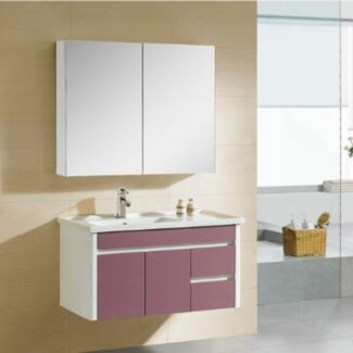 Vanity 900x460mm Wall Hung Ceramic Top Vanity soft close Bathroom