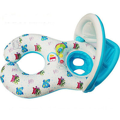 Baby Inflatable Swimming Laps Pool Jingle Bell Swim Ring Seat Float Boat Water