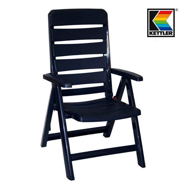 Gartenstühle kunststoff blau  6 KETTLER Nizza Klappsessel Gartenstühle Sessel Campingstuhl ...