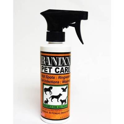 BANIXX Pet Wound Care AntiBacterial AntiFungal Spray Infection Skin 8oz