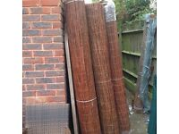 4m long rolls of willow screening