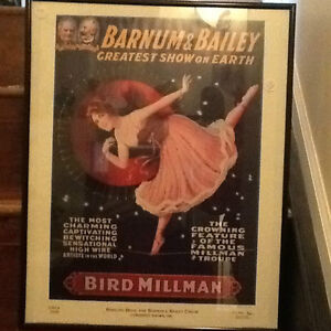 Barnum & Bailey - Antique Framed Poster - 1918