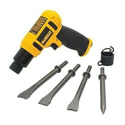 Air Hammer Chisel Set Pneumatic Long Barrel Blade Impact Heavy Duty Drill (Air Hammer Chisel Set)