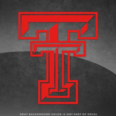Texas Tech Red Raiders T Logo Vinyl Decal Sticker - 4