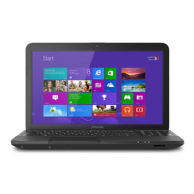 "Toshiba Satellite C855D-S5320 Refurbished Laptop 15.6"" E2-1800 500GB HDD 4GB"