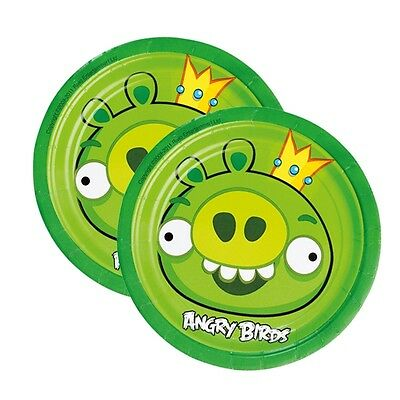 Angry Birds Teller im 8er Pack, 18cm, mit dem Motiv aus dem beliebten Spiel (Angry Birds Teller)