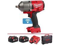 "M18 FUEL™ Milwaukee 1/2"" 5 Ah high torque impact wrench gun ONE-KEY™ Bluetooth"