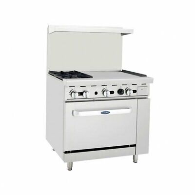 Atosa Usa Ato-2b24g 36 Gas Restaurant Range 1 Standard Oven 2 Open Bur...