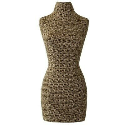 Half Body Mannequin Female Dress Form Cover -stretchy Leopard Print