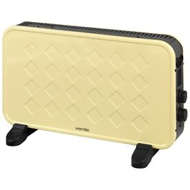 Warmlite Retro Convector Heater - Retro Portable 2KW WL41005C Cream