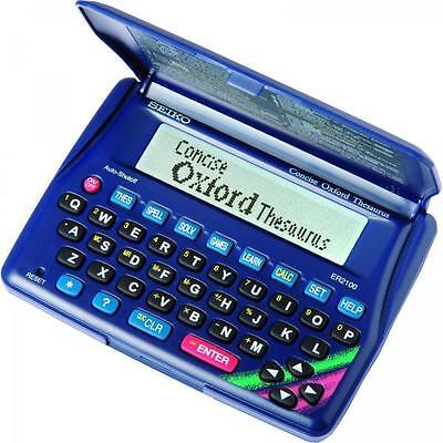 Seiko ER2100 Electronic Spell Checker Oxford Concise Thesaurus Crossword Solver
