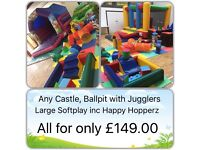 Soft play hire, disco domes, bouncy castles, slides and more covering Birmingham, Solihull, And more