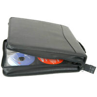 Three CD cases, large leather great condition