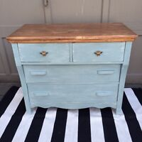 Sweet refinished antique dresser - cottage chic!