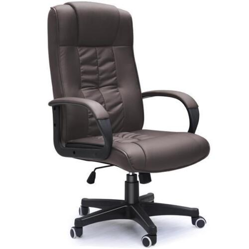 New Brown Pu Leather Office Chair Pc Computer Desk