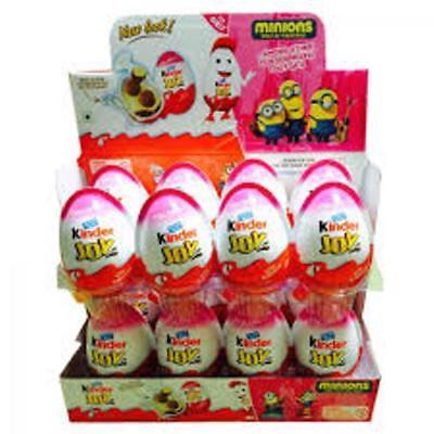 12Pc Kinder Joy Surprise Eggs  Ferrero Kinder Choclate Best Gift Toys  For Girl