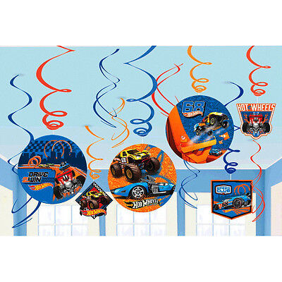 Hot Wheels Wild Racer Hanging Swirl Decorations Birthday Party Supplies - Hot Wheels Party
