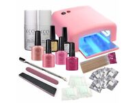 Gel Shellac Nail Varnish Kit For Sale Comes With - 36w Lamp, Gel Polish Colours, Nail File, Buffer