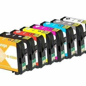 8 Packs Compatible Ink Cartridge for Epson T1590-T1599 Pigment for Epson Stylus Photo R2000