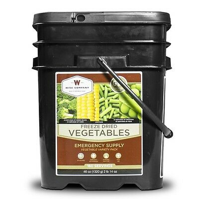 Wise Food 160 Serving GLUTEN FREE VEGETABLE Bucket, Bug Out, Camping, Survival