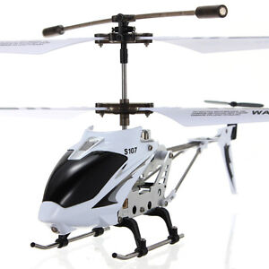 New Syma S107G W/ Gyro 3Ch Mini Infrared Remote Control RC Helicopter RTF White