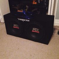 """2 12"""" MTX audio Subs! In box!"""