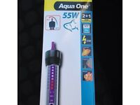 Aquarium glass heater new in box.