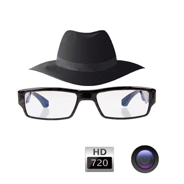 HD 1280*720P HIDDEN SPY VIDEO CAMERA DVR IN WEARABLE GLASSES//EYEWEAR UP TO 32GB
